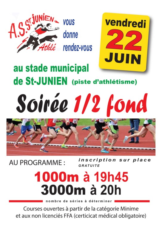 SOIREE 1/2 FOND A SAINT-JUNIEN LE 22/6